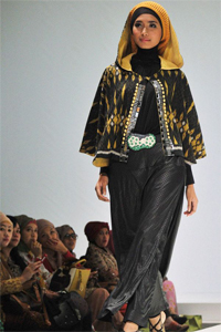 Contemporary and stylish Islamic haute couture by designer Irna Mutiara