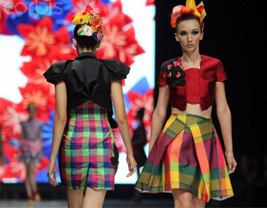 Traditional Batik patterns remodeled for chic day wear by Lenny Augustin
