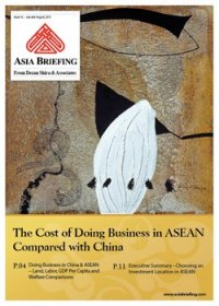 The Cost of Doing Business in ASEAN Compared with China
