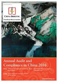 Annual Audit and Compliance in China 2016